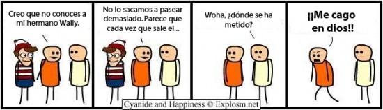 Cyanide y Happiness en español - Donde está Wally ?