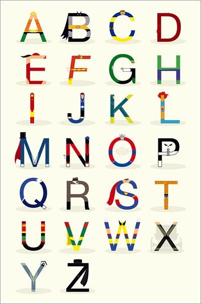 El abecedario de los Superheroes