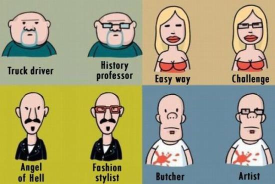 ¡Lo que cambian unas simples gafas!