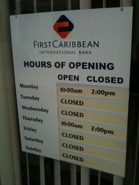En el caribe se trabaja poco