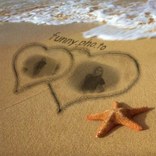 Rostros feos en la arena