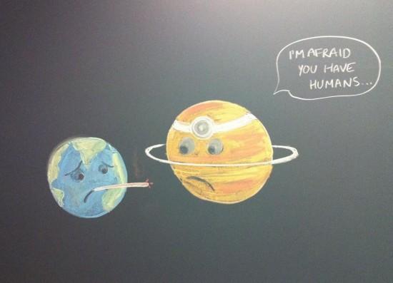 La tierra va al médico
