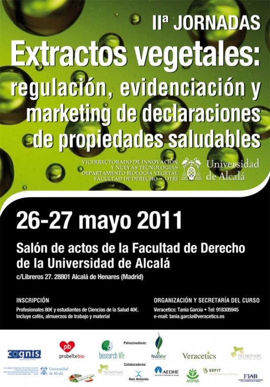 2ª Jornada Extractos Vegetales: Regulación, evidenciación y marketing de declaraciones de propiedades saludables