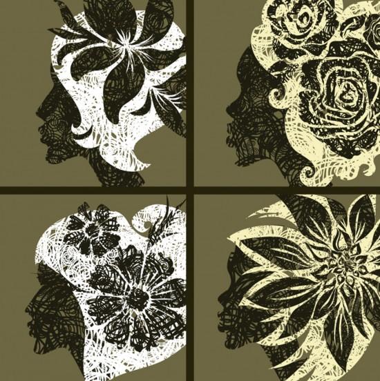 Flores y Mujeres