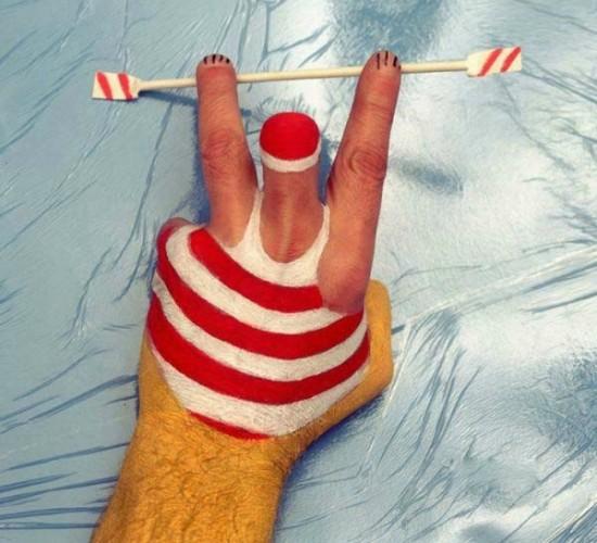 Arte corporal: solo son las manos I