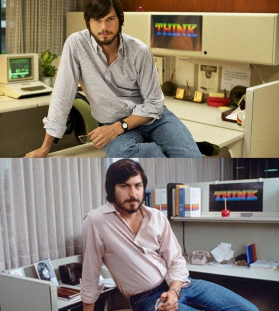 Aston Kutscher interpreta a Steve Jobs