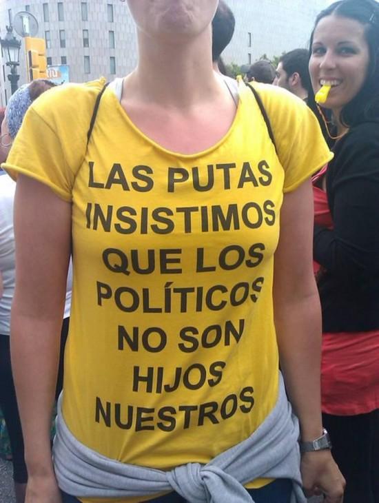 Camiseta protesta
