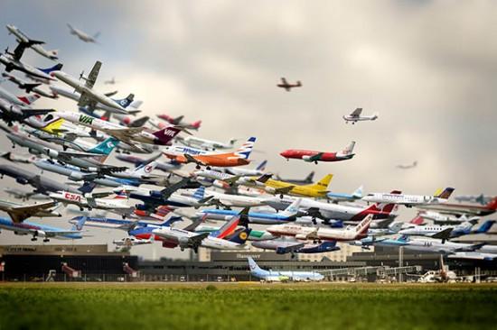 Despegue simultáneo de aviones
