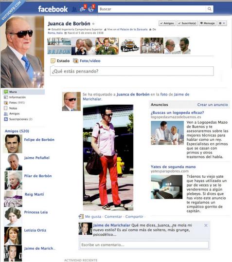 El Facebook del Rey Juan Carlos