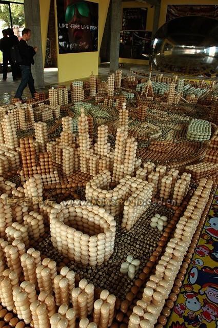 Arte hecho con huevos