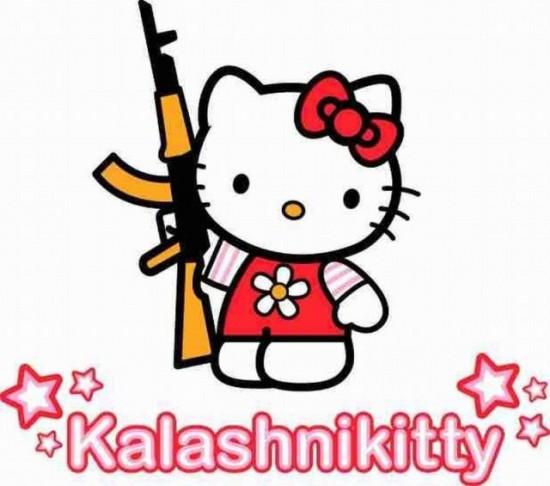 Kalashnikitty, Hello Kitty armada hasta los dientes