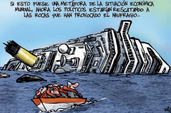 Metáfora naufragio y crisis económica
