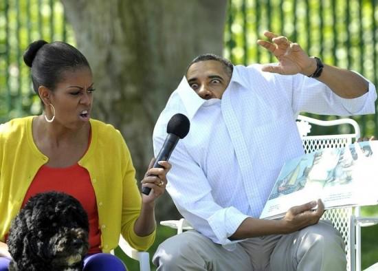 Obama contando un cuento