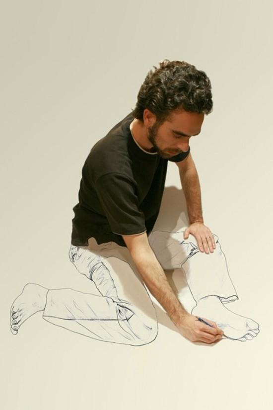 Pintando las extremidades