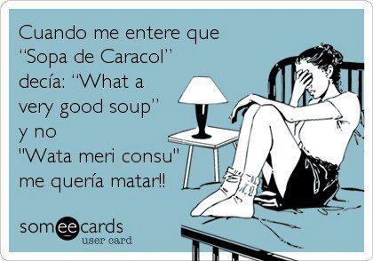 Sopa de Caracol, mira lo que decía!!