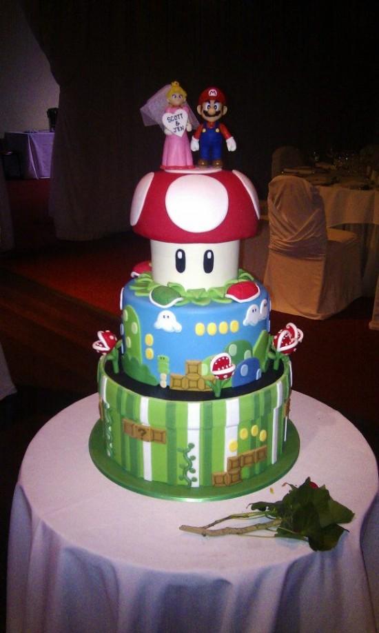 Tarta nupcial Mario Bros