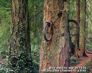 Bicicleta de la I Guerra Mundial