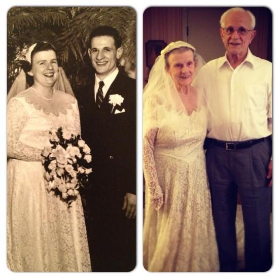 El mismo vestido de novia a los 80 años