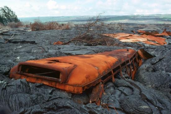 Absorbido por la lava