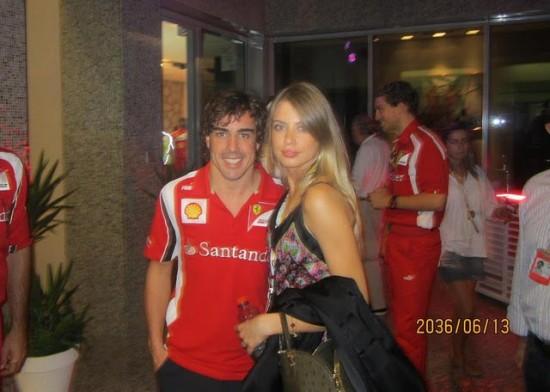 La nueva novia de Fernando Alonso, Xenia Tchoumitcheva