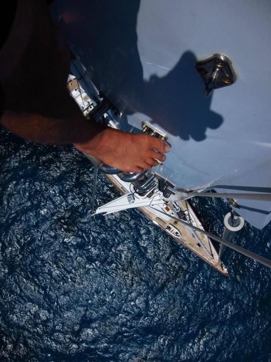 En lo alto de un barco