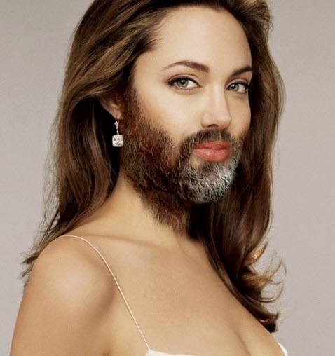 Famosas con barba I