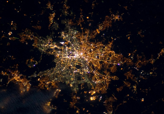 Berlín desde el espacio: por dónde pasaba el muro