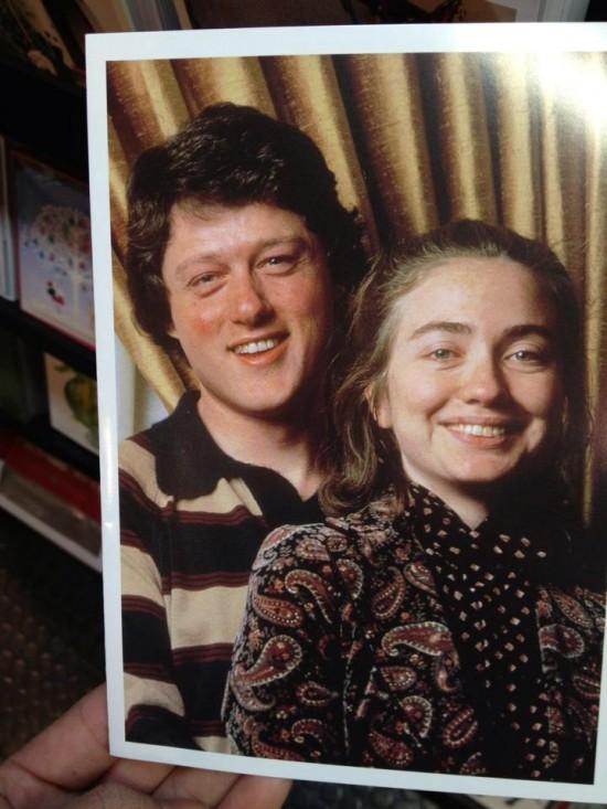 Bill y Hillary Clinton de jóvenes