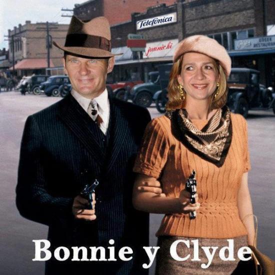 Bonnie y Clyde versión Casa Real