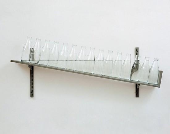 Botellas de agua a escala