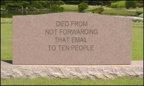 No siguió la cadena de emails