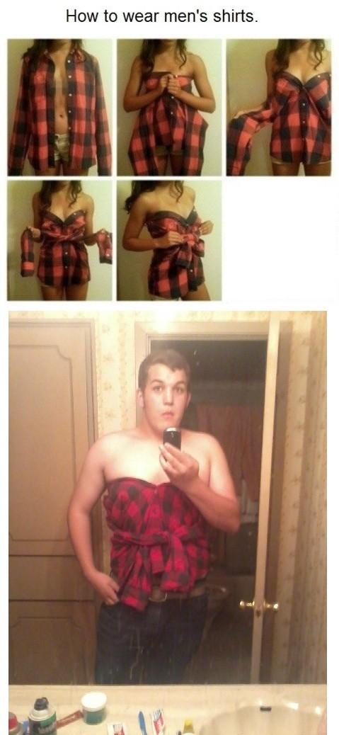 ¿Cómo ponerse una camisa de hombre?