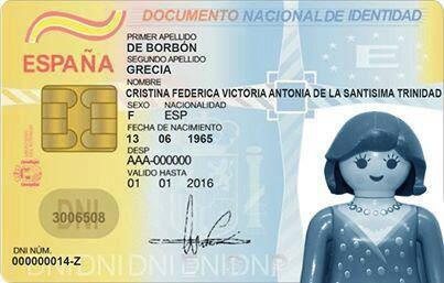 El DNI de la Infanta Cristina