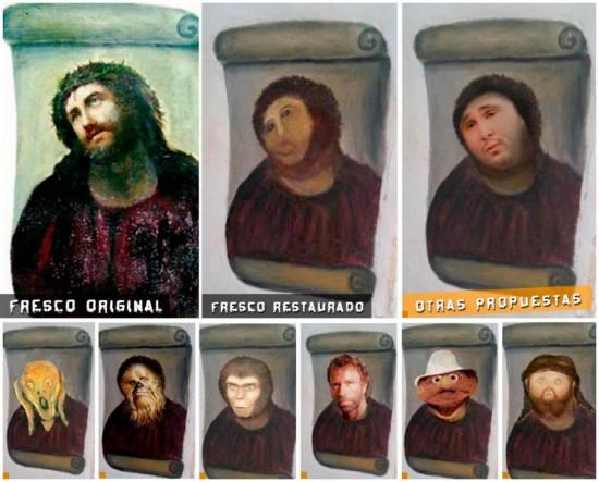 Restauración del Ecce Homo
