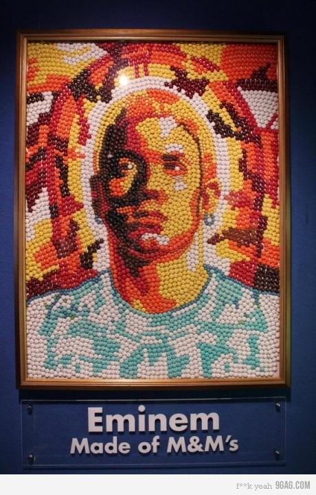 Eminem, hecho de M&Ms