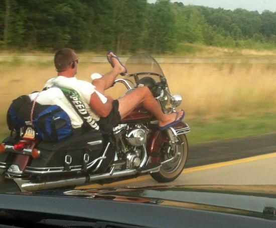 En moto voy muy cómodo