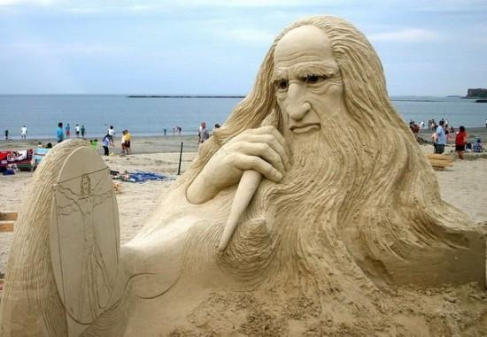 Escultura de arena increíble