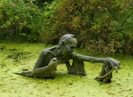 Escultura impactante