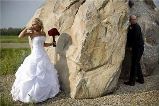 Foto de boda muy original