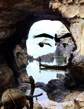Ilusión óptica con un paisaje
