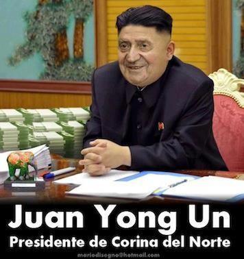 Juan-Yong-Un, presidente de Corinna del Norte