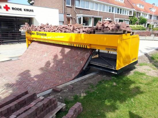 Máquina para crear pavimento