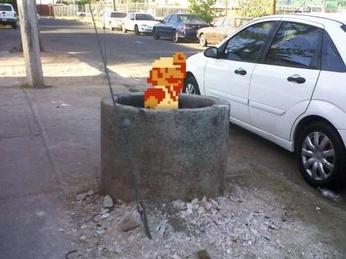 Mario Bros en la calle