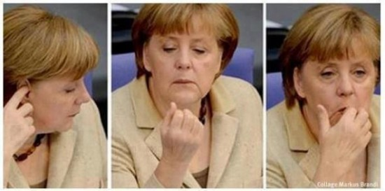 Merkel comiendo pelotillas