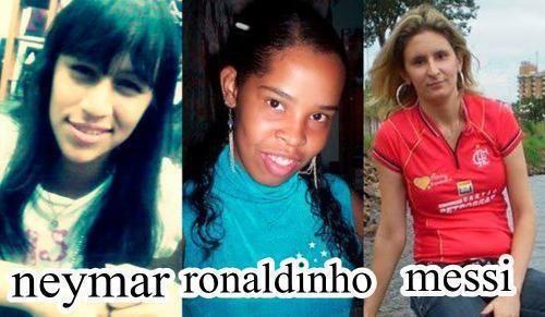 Neymar, Ronaldinho y Messi si fueran una mujer
