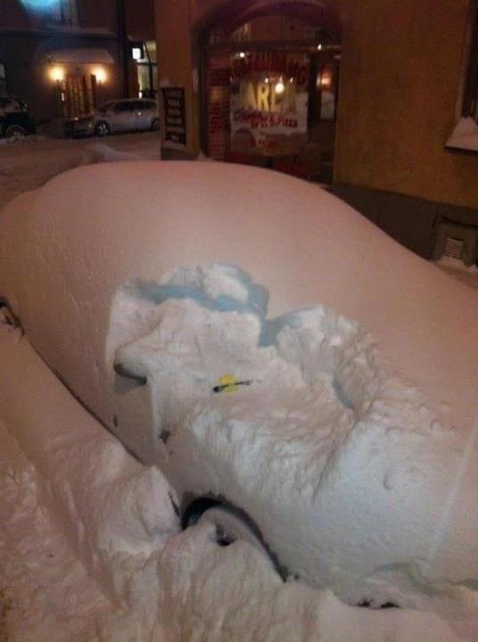 La nieve no te librará de la multa