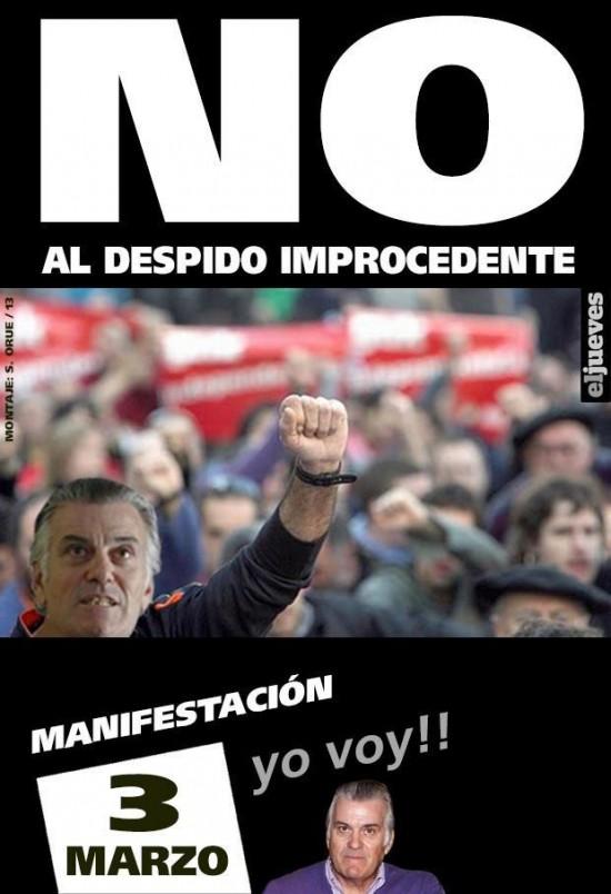 Bárcenas: No al despido improcedente
