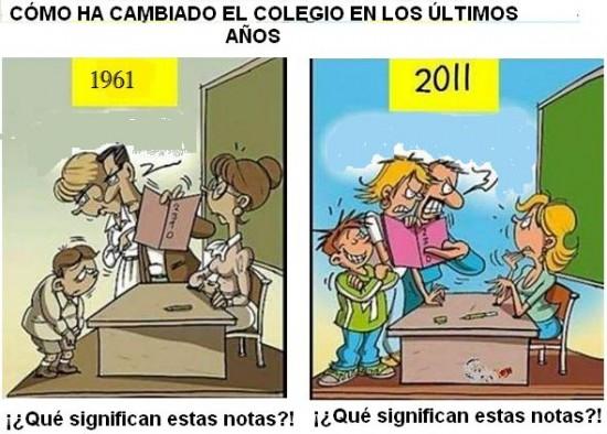 Notas antes y ahora