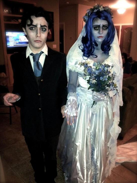 Disfraz de novios cadáver para Halloween