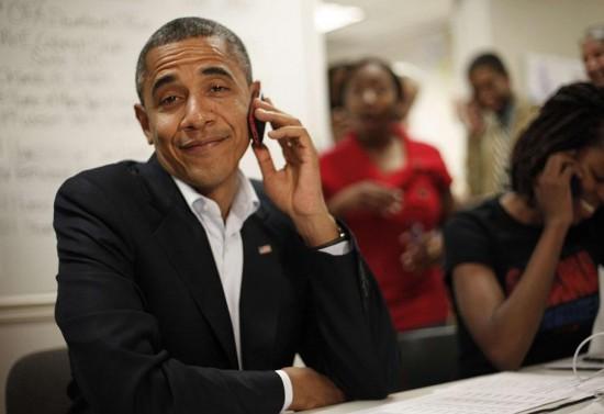 Obama con cara de risa
